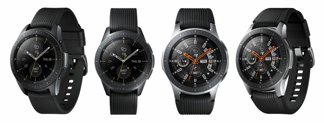 Samsung Galaxy Watch i färgerna Midnight Black och Silver