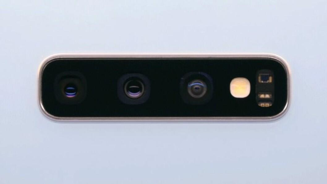 Samsung Galaxy S10 har tre kameror bak