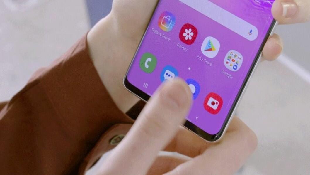 Samsung Galaxy S10 fingeravtrycksläsare