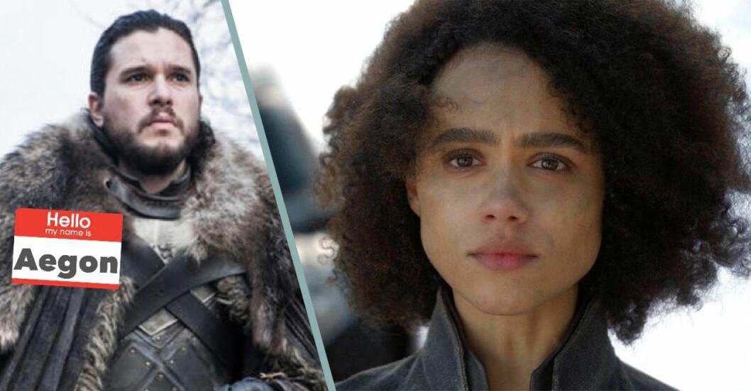 Jon Snow är Aegon Targaryen och Missandei dör i avsnitt fyra säsong 8 av Game of Thrones.