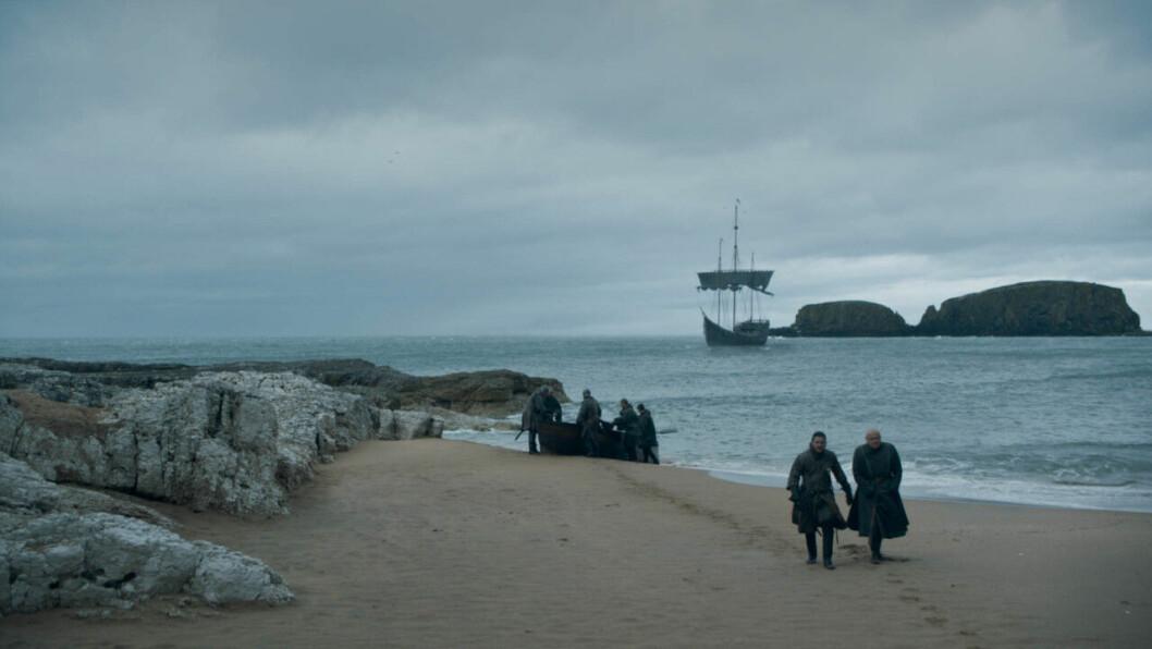 En bild från det näst sista avsnittet av tv-serien Game of Thrones på HBO.