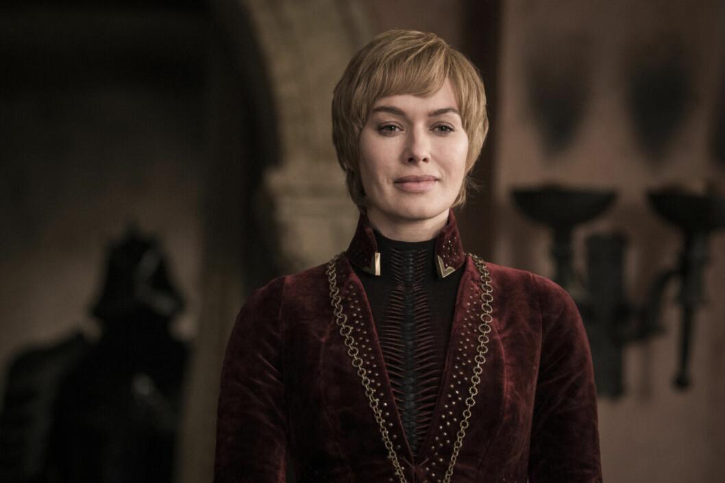 En bild på karaktären Cersei Lannister i tv-serien Game of Thrones på HBO.