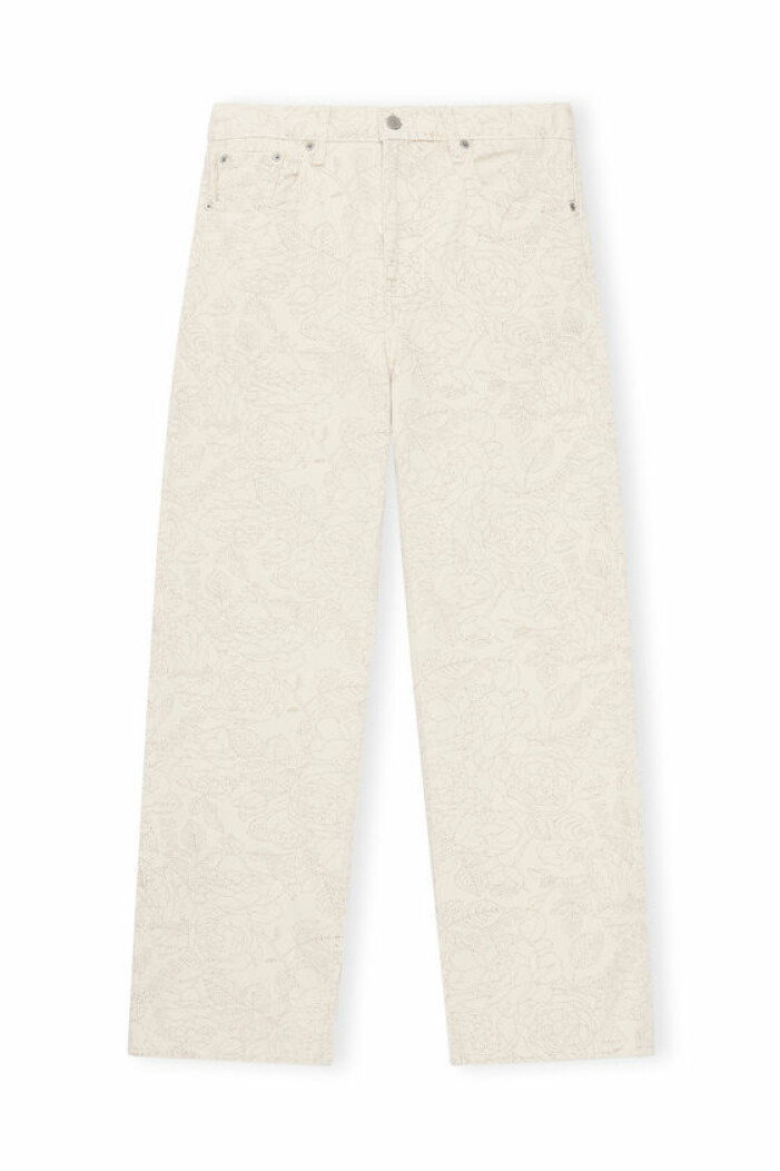 ganni x levis cream jeans