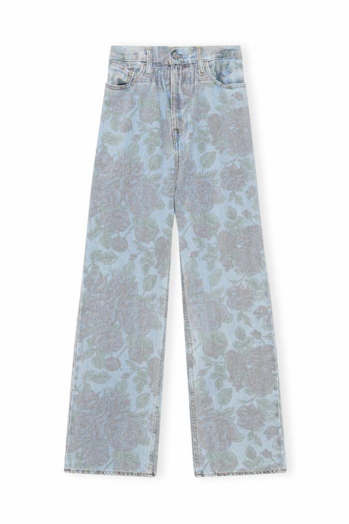 ganni x levis print jeans