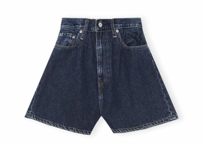 ganni x levis indigo shorts