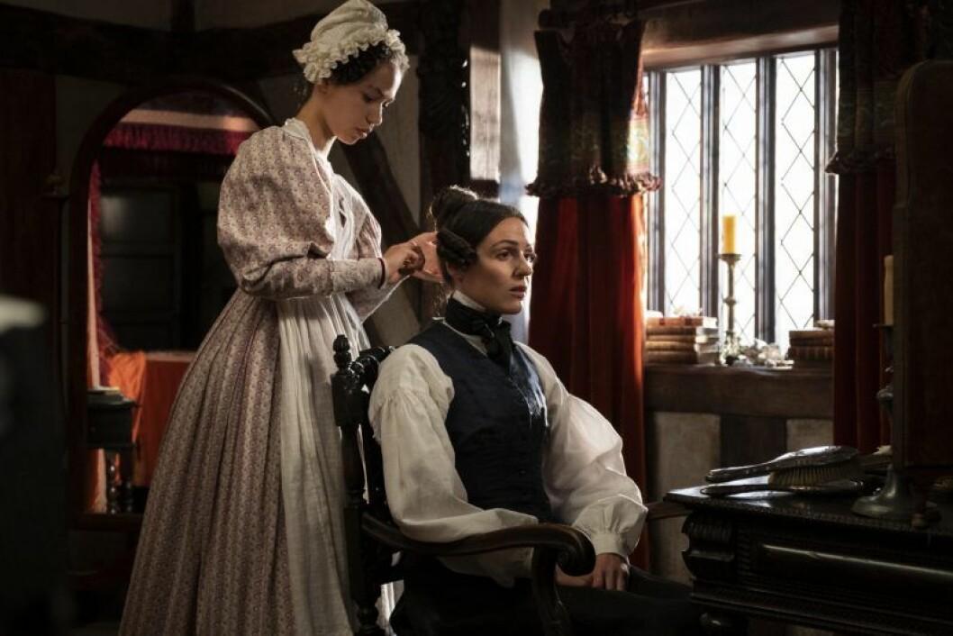 En bild från tv-serien Gentleman Jack, som visas på HBO.