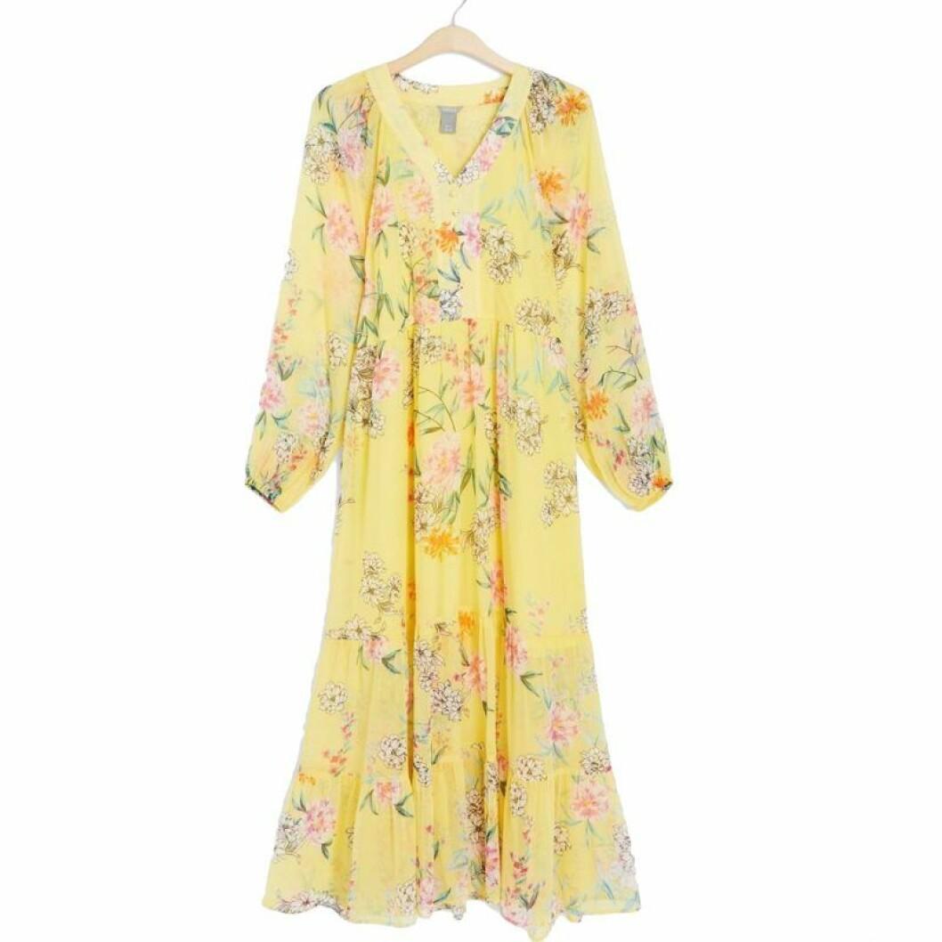 gul klänning från Lindex