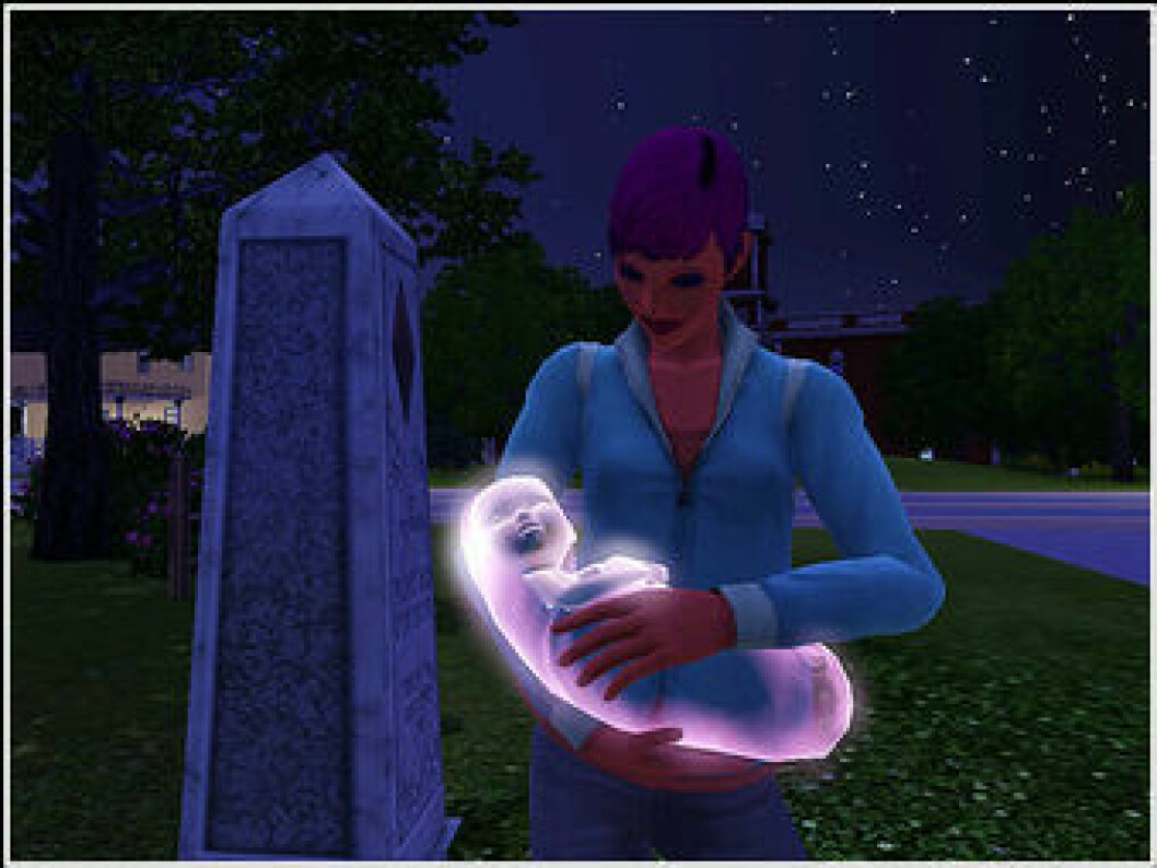 Ghost baby The Sims