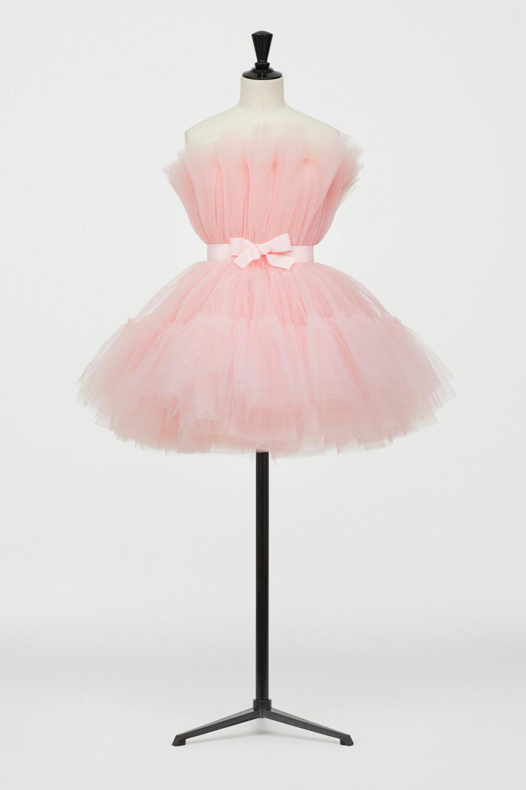Rosa tyllklänning från H&M