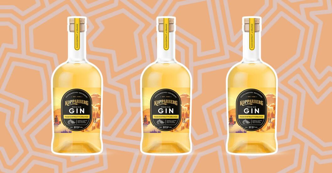 Kopparberg gin med smak av passionsfrukt och apelsin