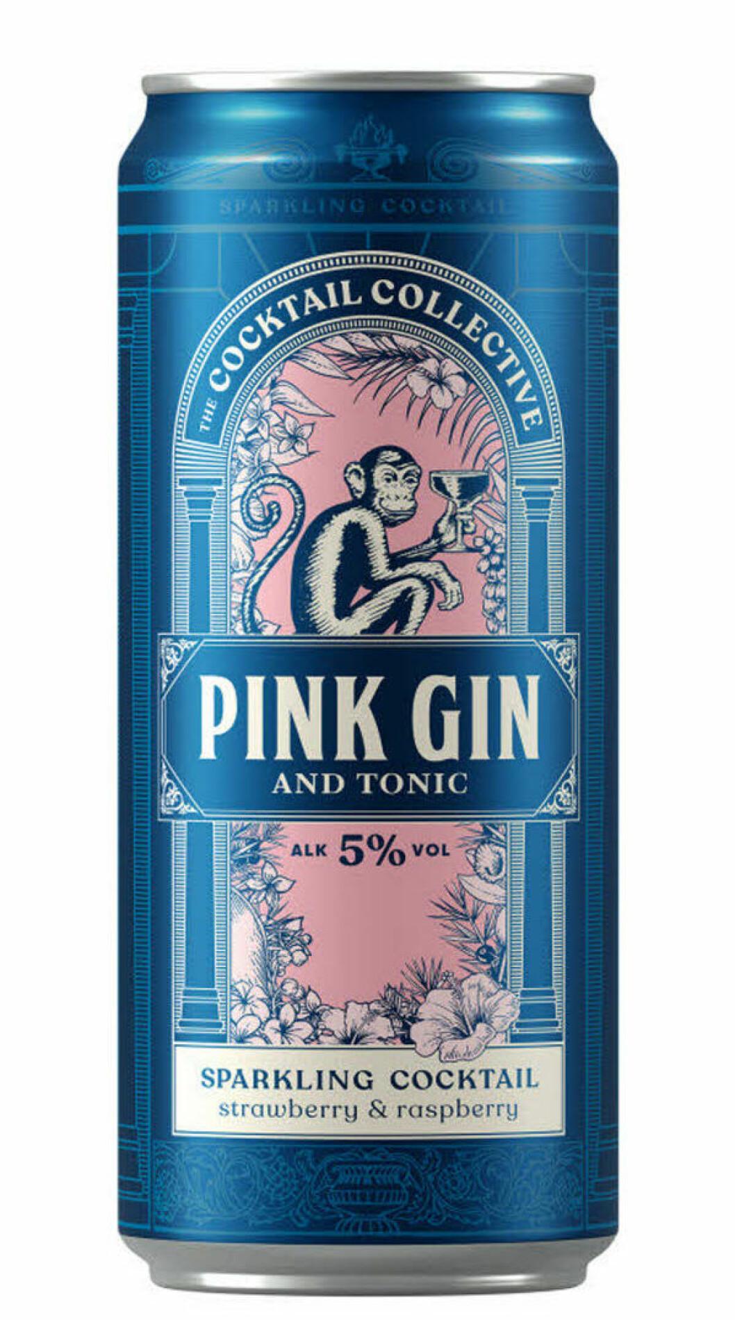 gin och tonic i en blå burk