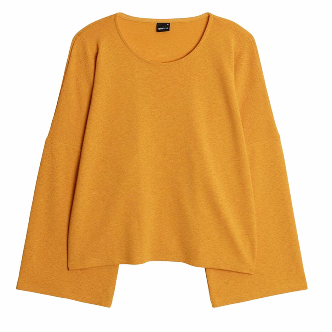 Gul tröja från Gina tricot