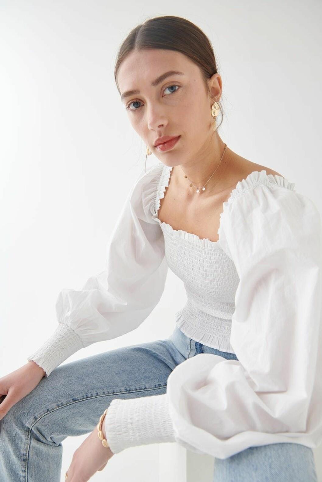 Gina tricot smockad topp