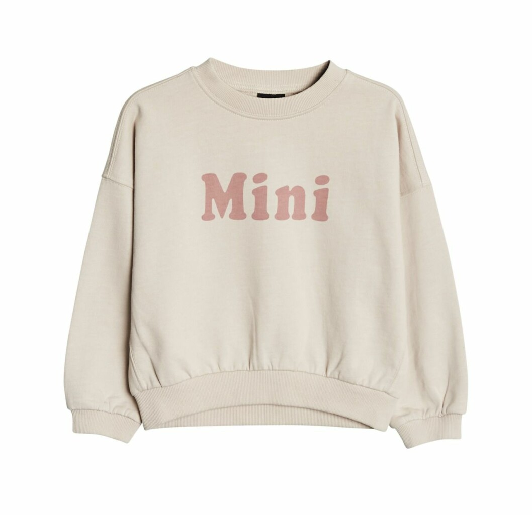 Gina tricot mini barnkollektion sweatshirt