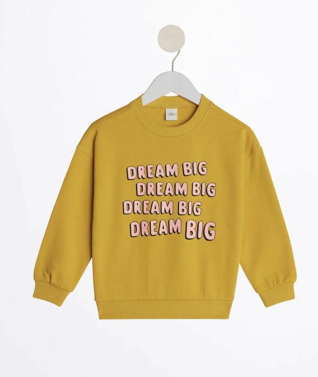 Gina tricot mini – gul sweatshirt