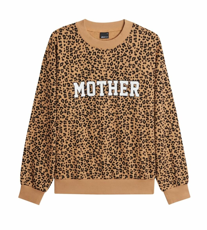 Gina tricot Mini mor- och barnkollektion –leopardmönstrad sweatshirt