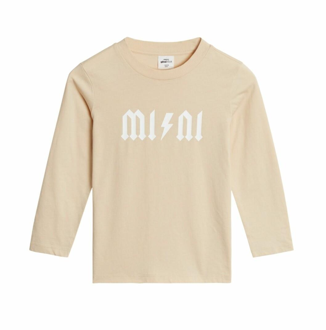 Gina tricot Mini mor- och barnkollektion –beige tröja