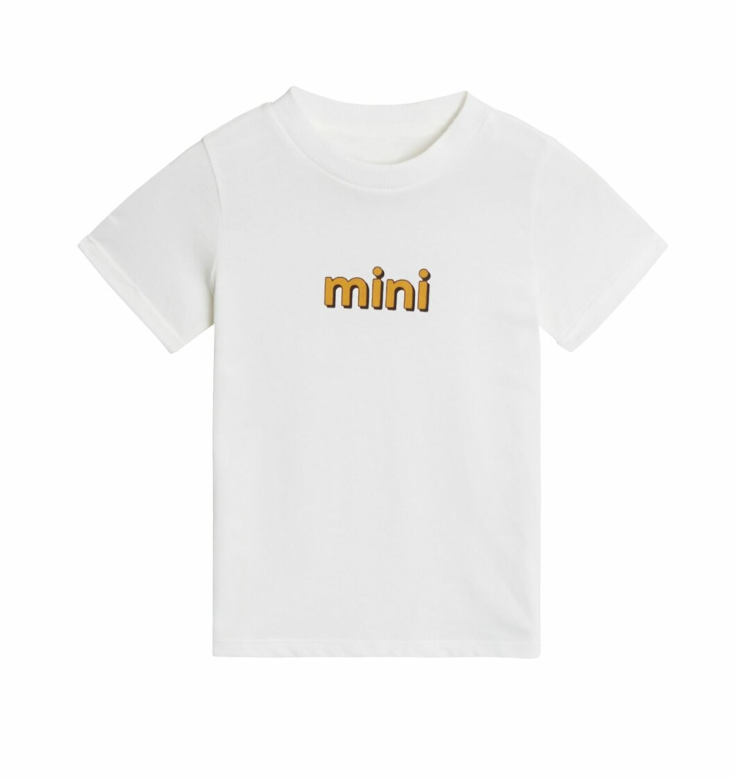 Gina tricot Mini mor- och barnkollektion –vit t-shirt