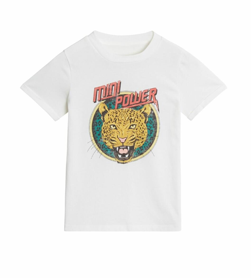 Gina tricot Mini mor- och barnkollektion –vit t-shirt med tryck
