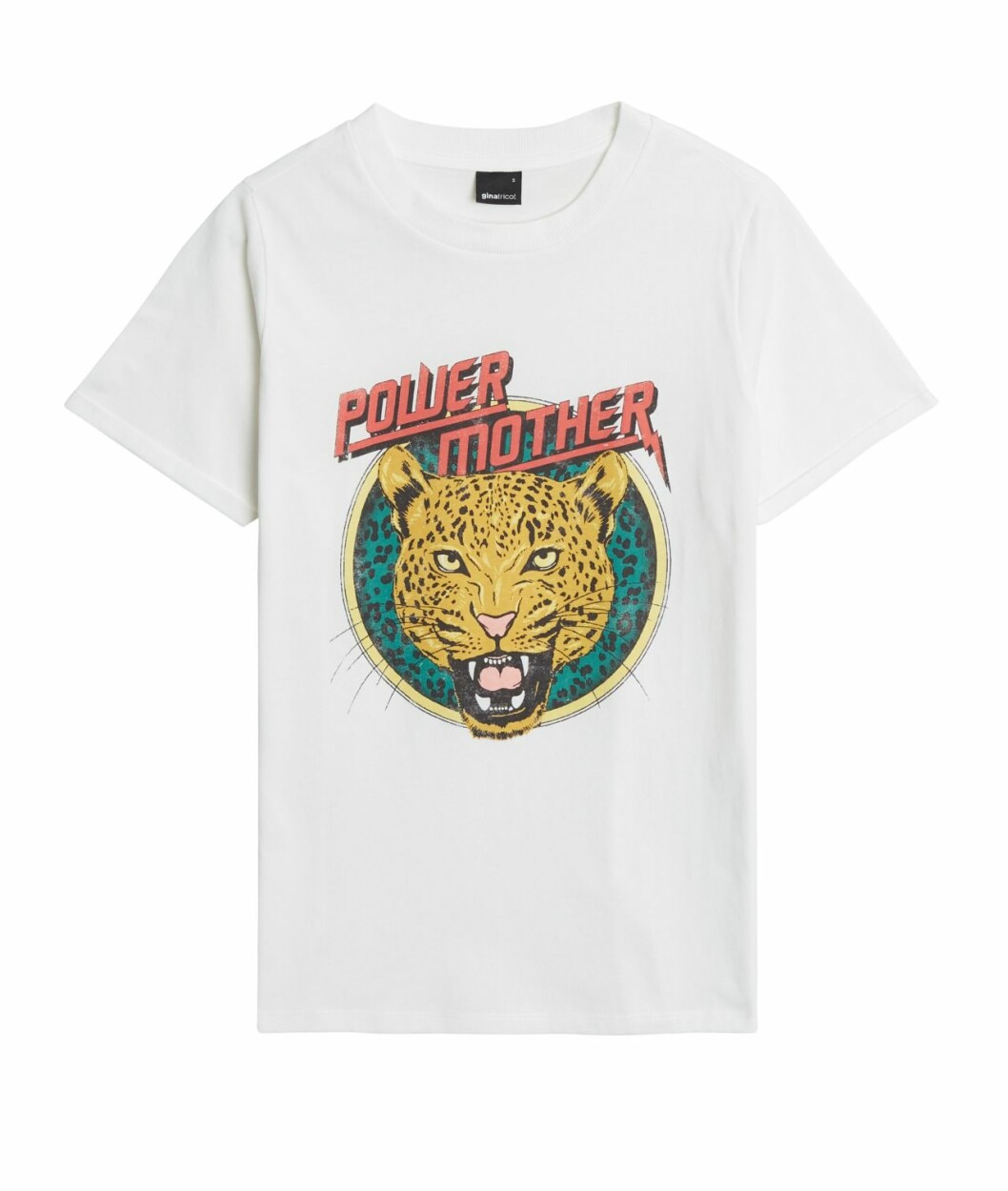 Gina tricot Mini mor- och barnkollektion –mönstrad vit t-shirt