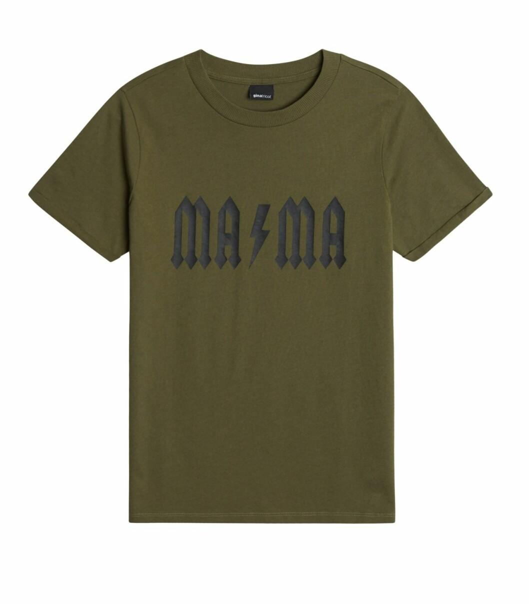 Gina tricot Mini mor- och barnkollektion –grön t-shirt