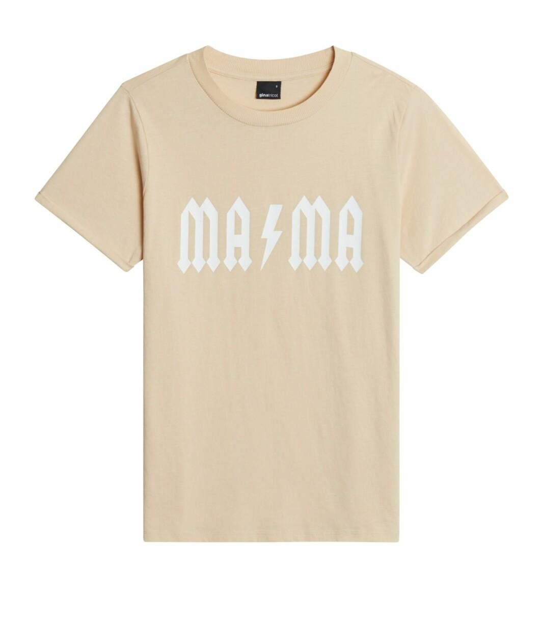Gina tricot Mini mor- och barnkollektion –beige t-shirt