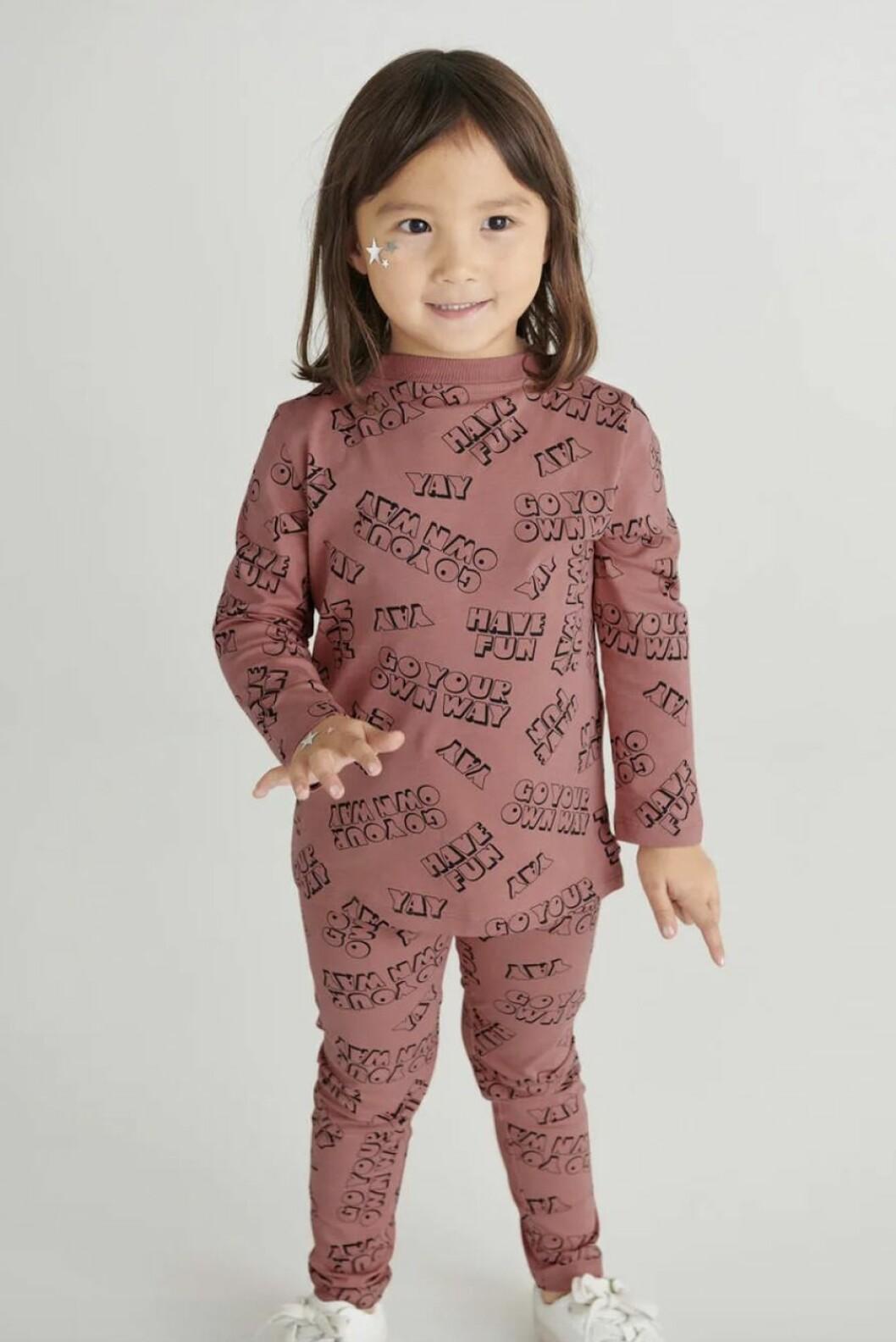 Gina tricot mini – leggings med tryck