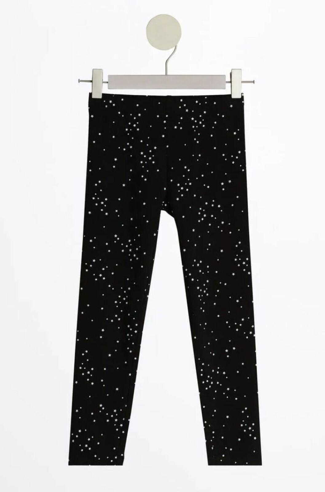 Gina tricot mini –svarta leggings med stjärnor