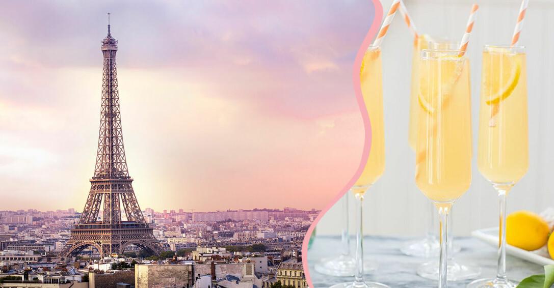 Parisvy och drinken French 75