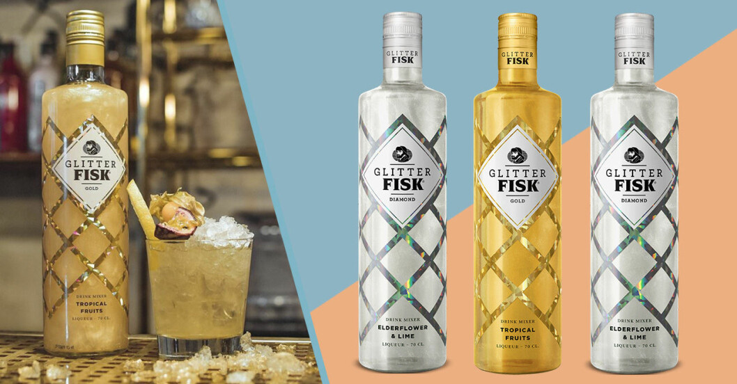 Glitter Fisk Gold och Diamond drinkmix