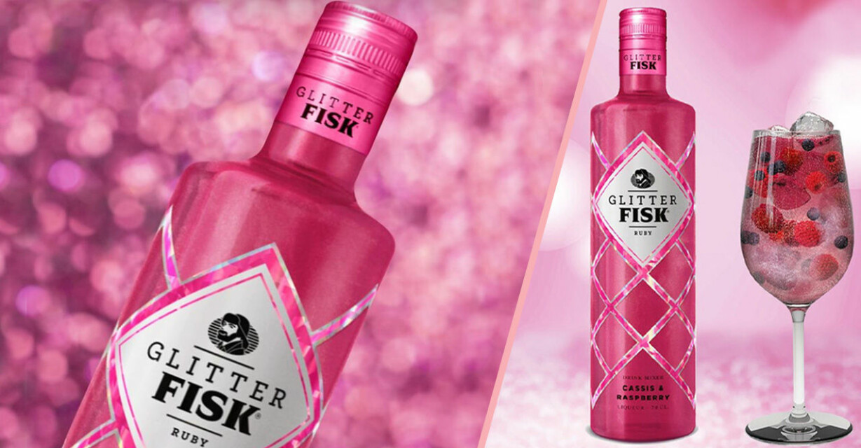 Glitter Fisk Ruby