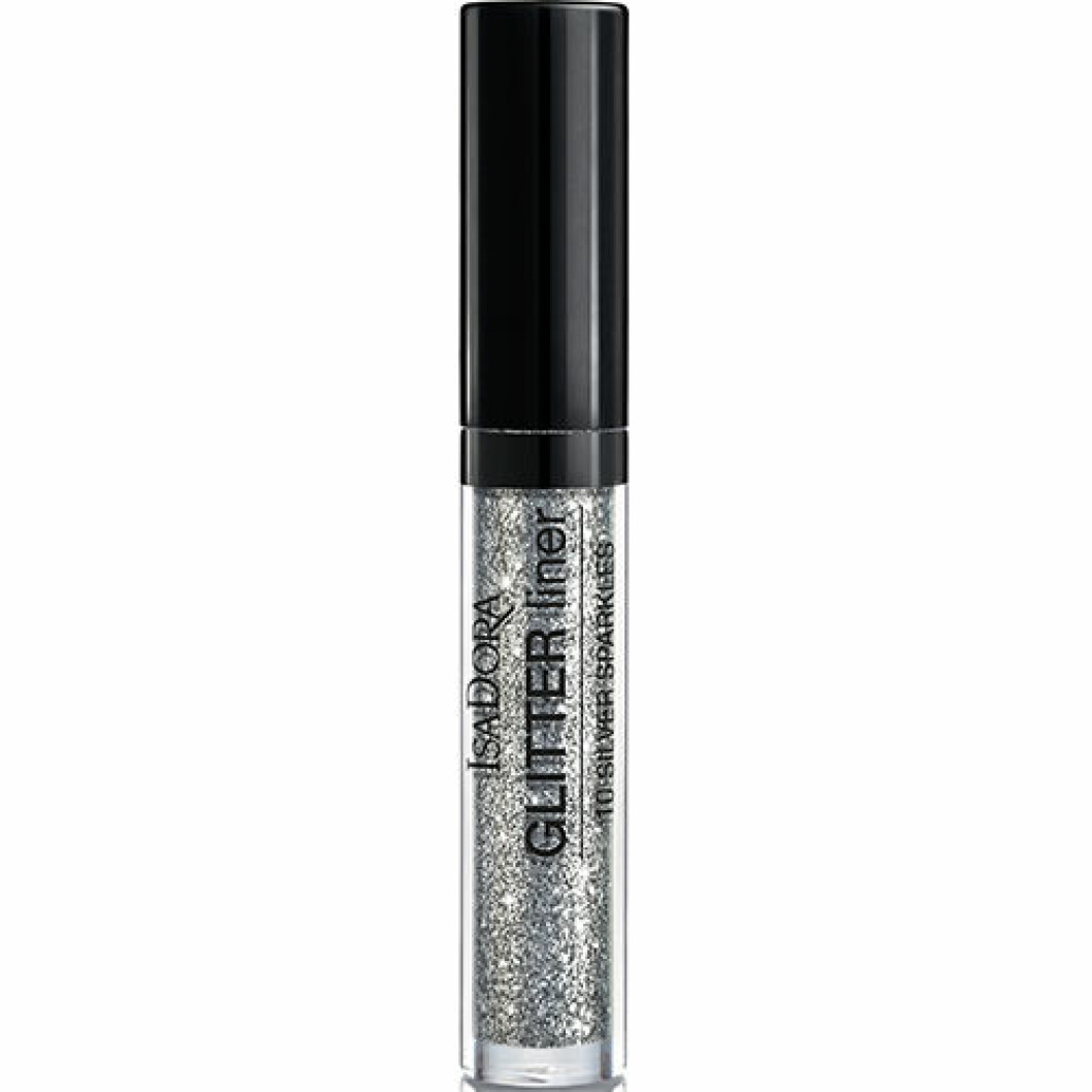Eyeliner i silver glitter