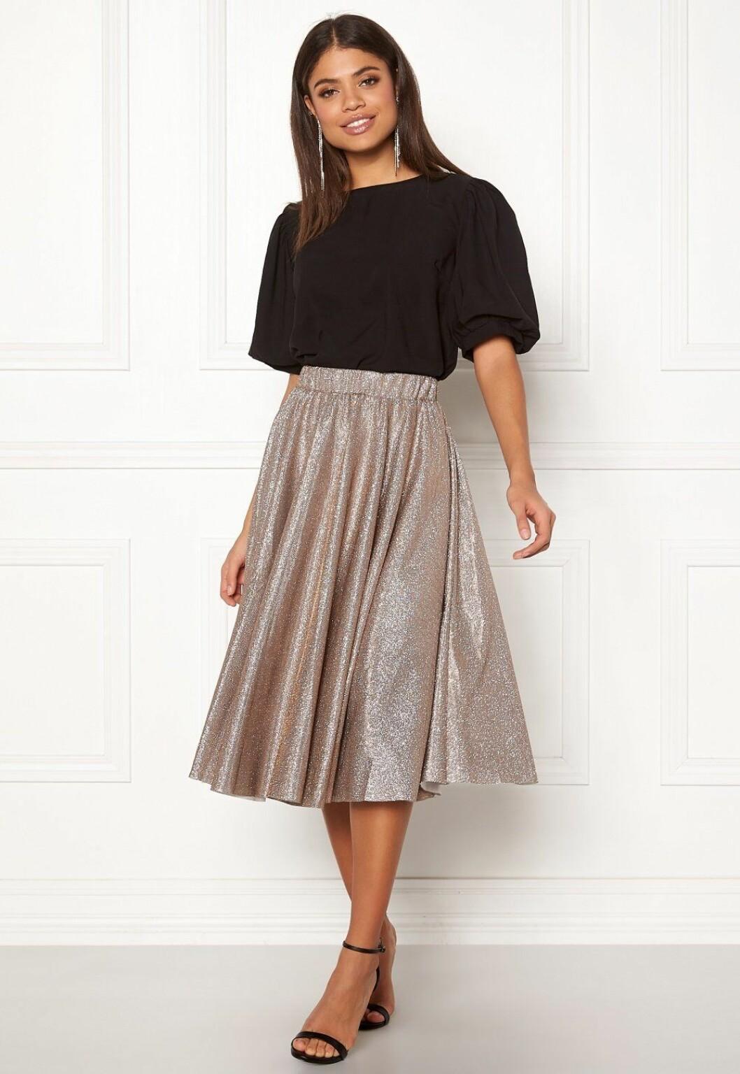 Glittrig kjol för dam till festen 2019