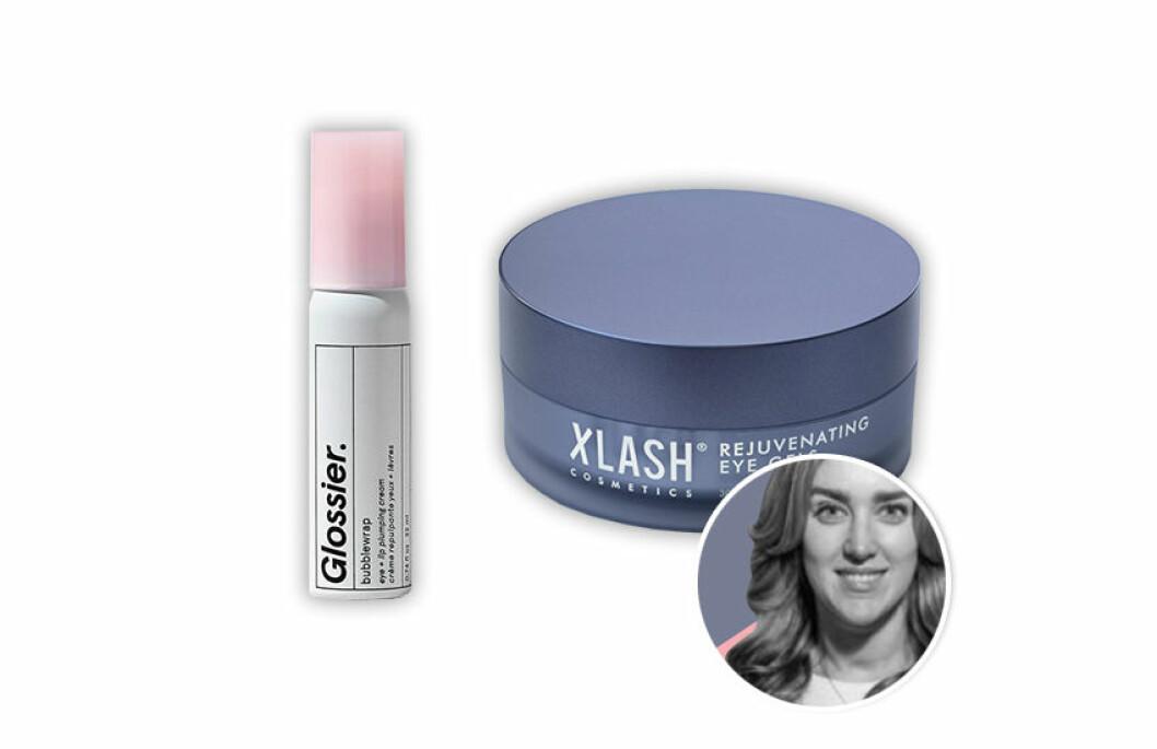 Glossier Bubblewrap och Xlash Rejuvenating Eye Gel Pads