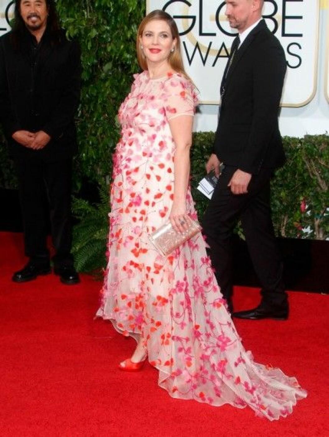 Drew Barrymore i Monique Lhuillier.