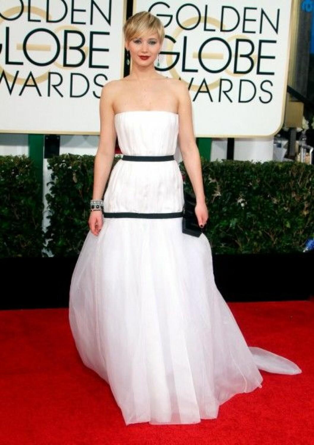 Jennifer Lawrence i Christian Dior Couture.