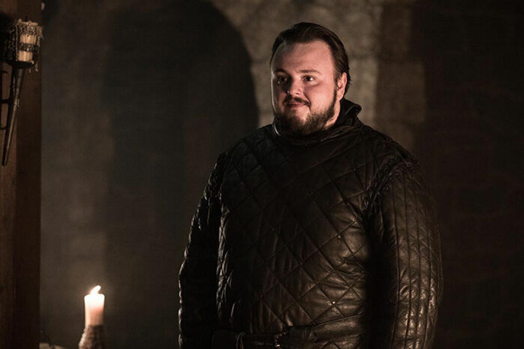 En bild på karaktären Samwell Tarly från tv-serien Game of Thrones.