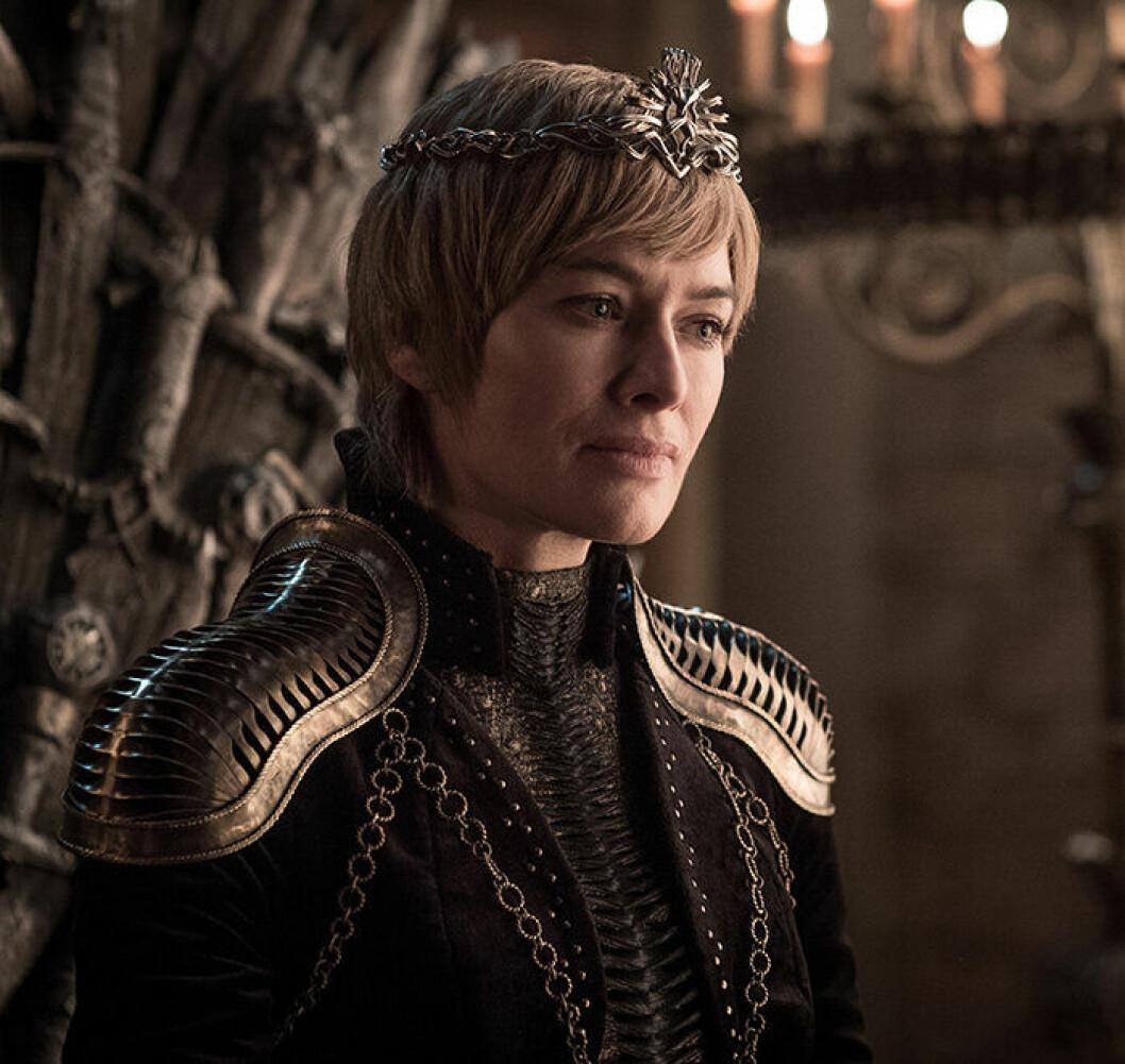 Ytterligare en bild på karaktären Cersei Lannister från tv-serien Game of Thrones.