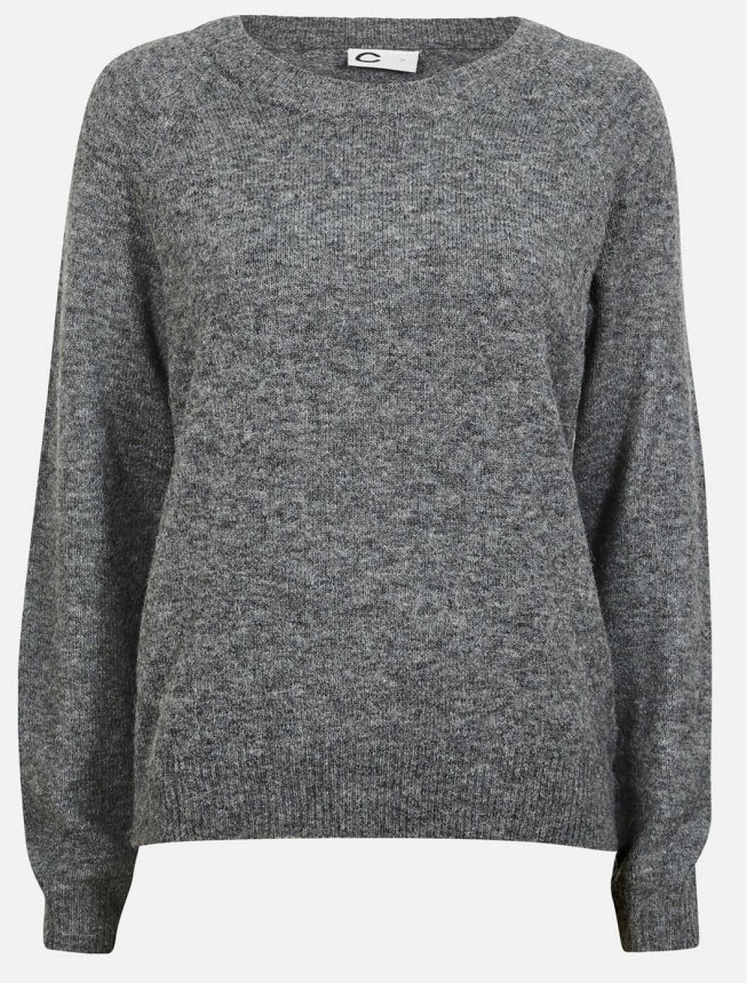 grå basic tjocktroja
