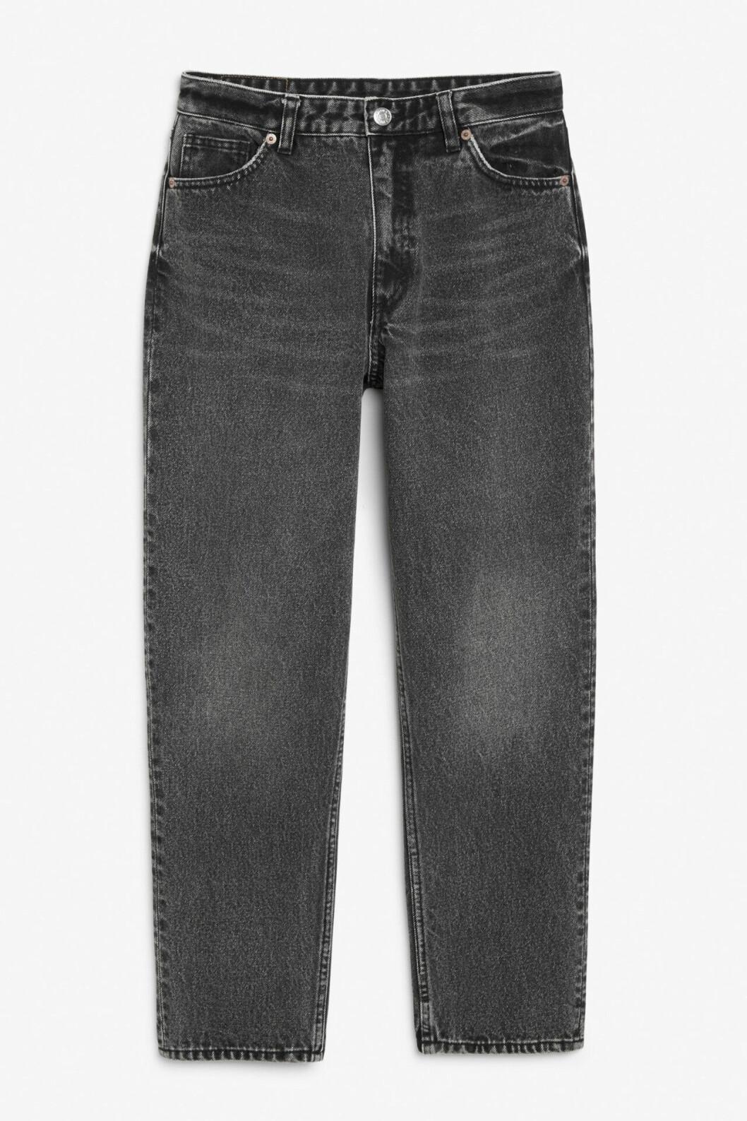 Svarta tvättade jeans för dam till våren 2020