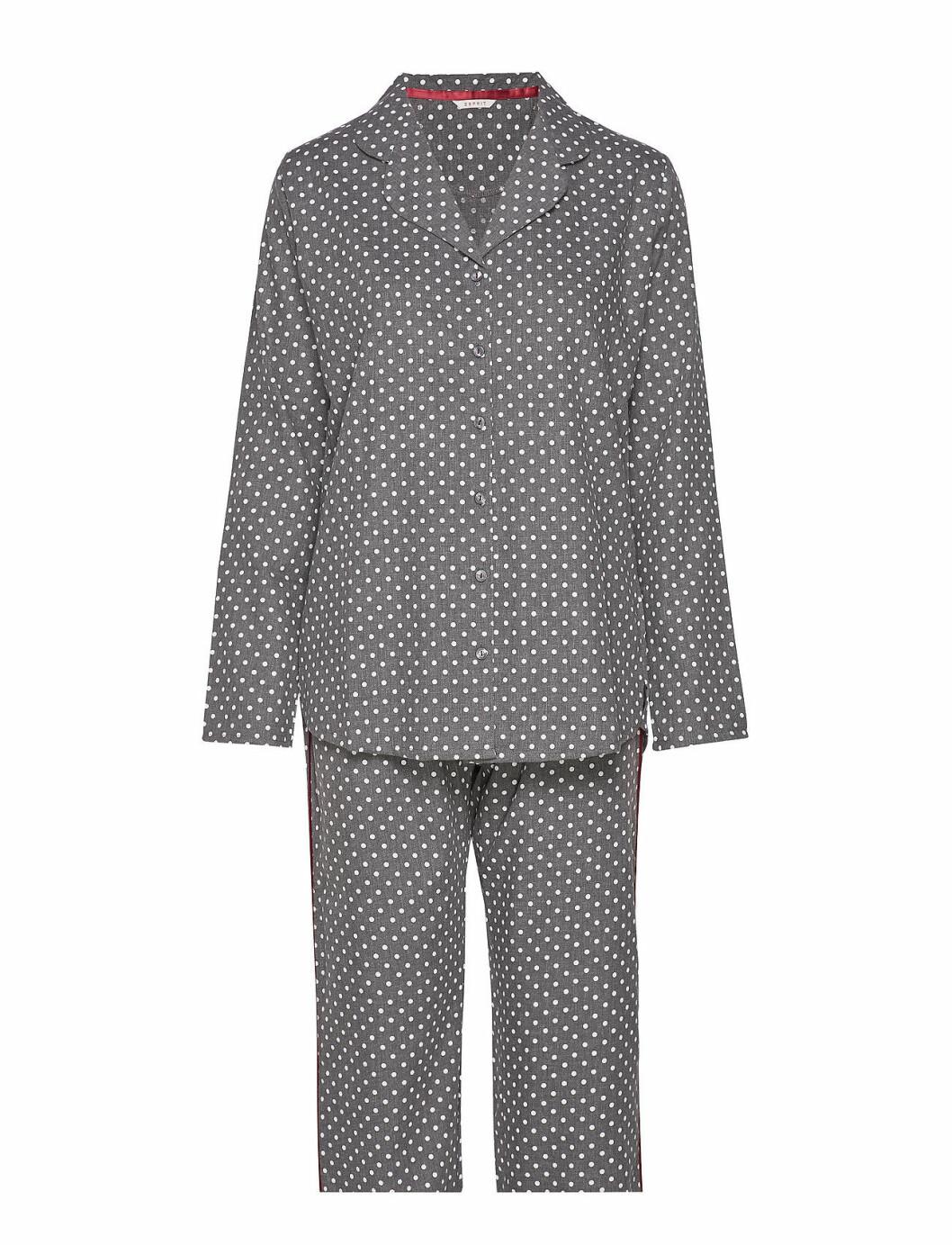 Grå prickig pyjamas för dam till 2019