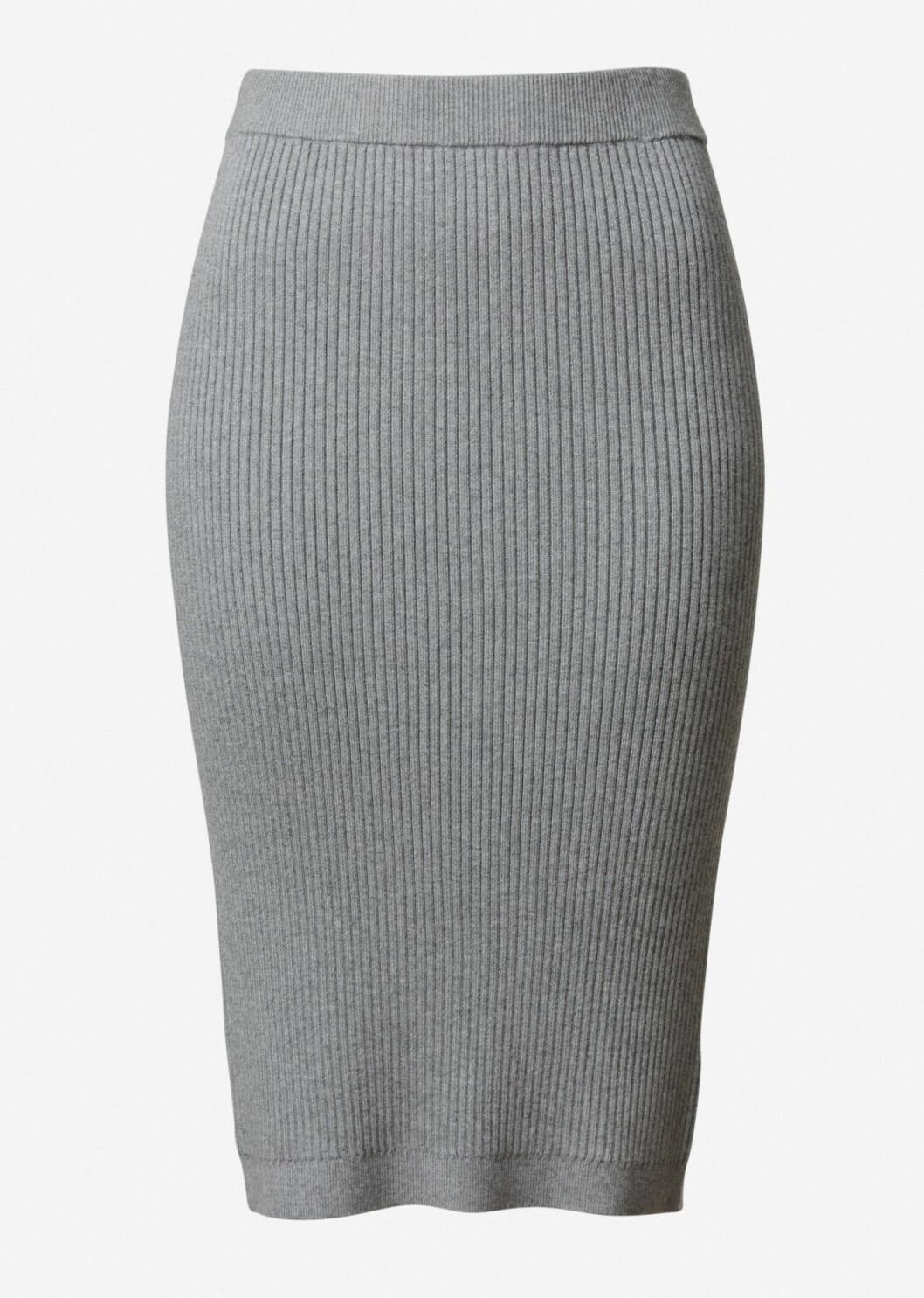 Grå stickad kjol för dam till hösten 2019