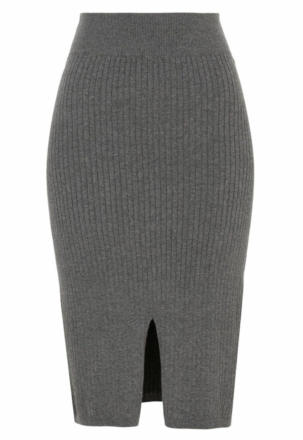 Grå stickad kjol för dam till 2019