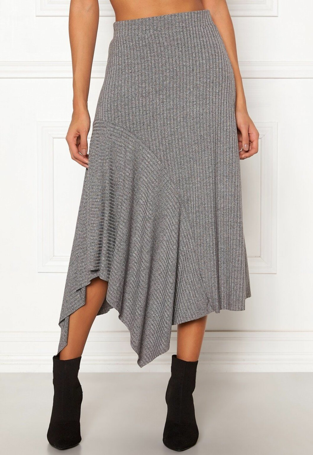 Stickad vid kjol för dam till 2019