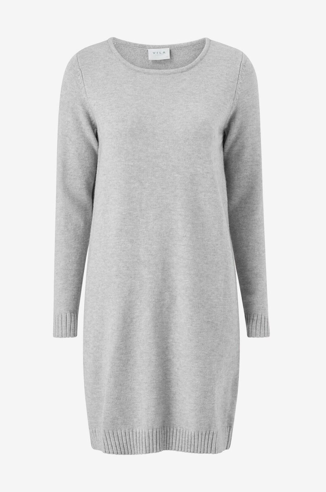 Grå stickad klänning för dam till hösten 2019