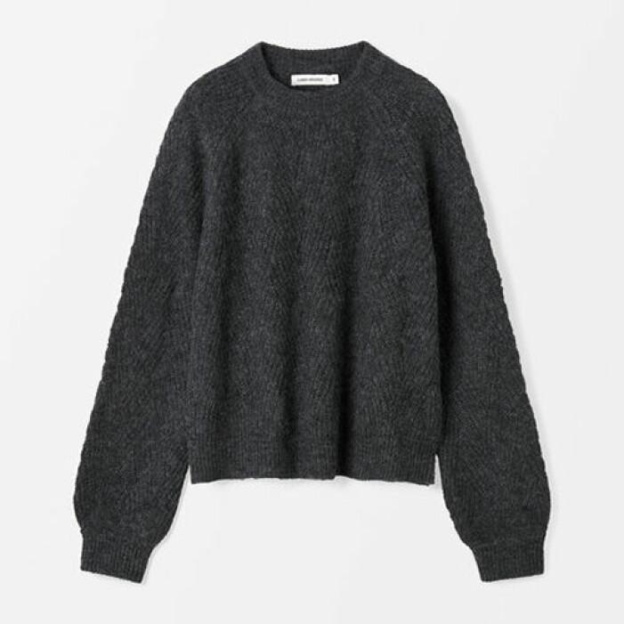 grå stickad tröja till dam från carin wester