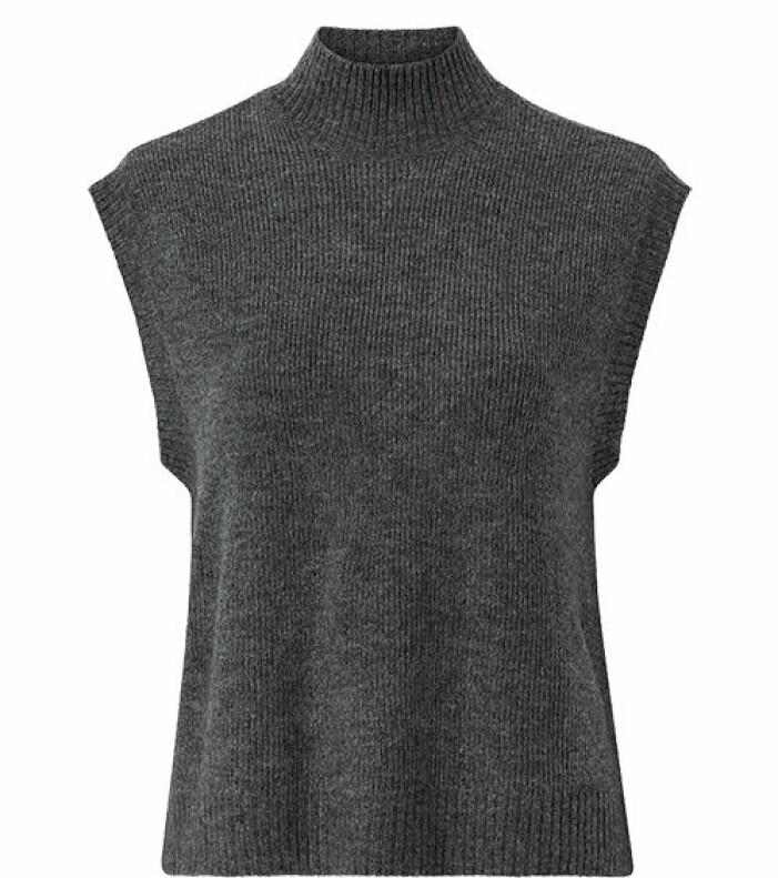 grå stickad väst
