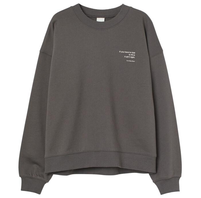 grå tröja hm