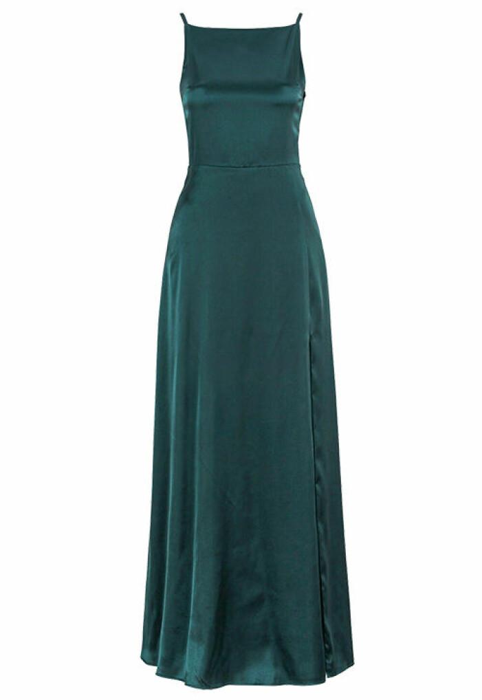 grön balklänning
