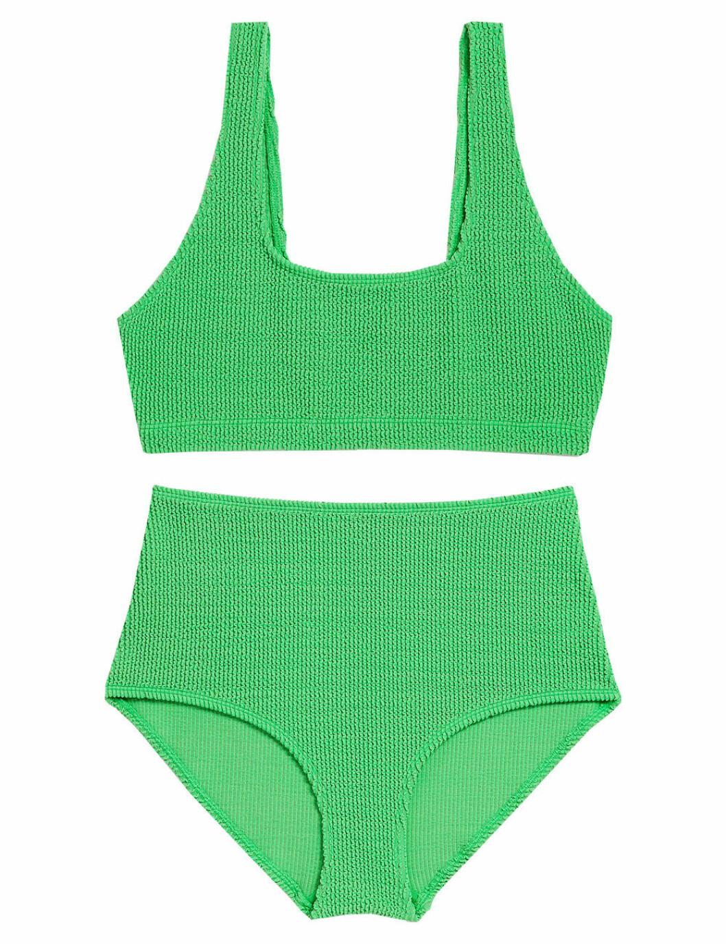 Grön bikini med hög midja, från Monki